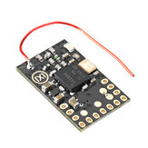 DasMikro Das87 FrSky Nano 7CH RC Receiver Integrated 2 Mixed Bi-directional ESC for Tank Type