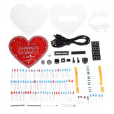 Electronic Clock Heart-shaped  Lamp Love Creative DIY Production Kit
