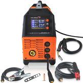 MIG-200AL 6 en 1 220V Inverter Machine de soudage électrique à l'arc MIG / MMA / LIFT TIG / PULSE AlMg / PULSE AlSi / DOUBLE PULSE Welder pour le soudage électrique LCD Affichage