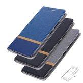 Bakeey Flip Stand acél réteg vászon minta PU bőr teljes védőtok ASUS Zenfone Max (M1) / ZB555KL