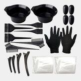 22 piezas Cabello colorante herramienta conjunto peine Cepillo gorro de ducha desechable látex Guantes Cabellodressing herramientas