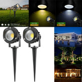 10W COB LED Luz do gramado Outdoor Garden Landscape Wall Quintal Path Flood Lamp AC85-265V