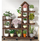 Flower Plant Stand House Design Multi Layers Shelf Rack Organizer for Home Garden