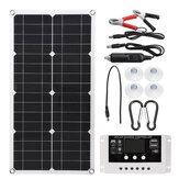 10A / 20A/30A 18V 250W panneau solaire semi-flexible 12 V / 24 V contrôleur de chargeur solaire pour système de génération d'énergie extérieur abri de stationnement voiture électrique