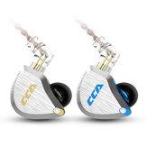 CCA C12 1DD + 5BA Douszne wkładki douszne HIFI Metalowe słuchawki 3,5 mm Pozłacana wtyczka 12 szt. Słuchawki sportowe sterowane przewodowo
