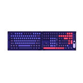 AKKO 157 Keys Neon Keycap Set Cherry Profile PBT Two Color Molding Keycaps for Mechanical Keyboard