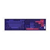AKKO 157 Tasten Neon Keycap Set Kirschprofil PBT Zweifarbige Formkappen für mechanische Tastaturen