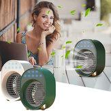 Mini condicionador de ar portátil USB ventilador umidificador refrigerador de ar 3 velocidades ajustável e 6 cores purificador de condicionamento de luz