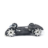 Mecanum Wheel Single-layer Trolley Chassis Omni-Wheel Smart Car Metal Chassi para Robot Racing Car