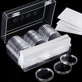 30 Teile / los 25mm / 27mm / 30mm / 40mm Durchsichtigen Münze halter Kapseln Cases Runde Lagerung Ring Boxen