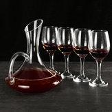 1700ML Crystal Glass Decanter en 4 kopjes Elegant schenkkaraf Loodvrij geschenktafel Beluchter Karaf