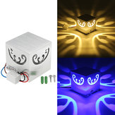 3W Modern Creative Butterfly LED Wall Light Indoor Square Decoration Lamp AC85-265V