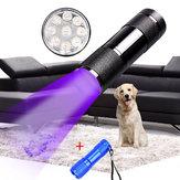 Schwarz+BlauXANESU019x LED Violetttlicht Multifunktions-UV LED Taschenlampe Fluoreszenz-Erkennungsstift