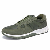 Men Outdoor Sports Microfiber Leather Comfy Slip Resistant Casual Sneakers