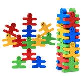 16 sztuk Drewniane zabawki dla dzieci Kolor Cartoon Balance Building Blocks Zabawki edukacyjne