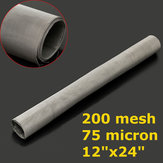 30x60cm Stainless Steel 304 Cloth Filtration Woven Wire Screen 200 Mesh