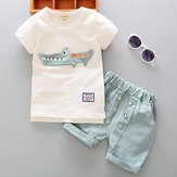 0-3 Years Old Boys Clothing Sets Cartoon T Shirts + Shorts Leisure Summer Toddler Kids Clothes