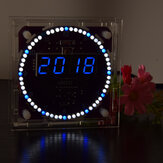 Geekcreit® Fourth Generation DIY EC1838B DS1302 Light Control Rotation LED Electronic Clock Kit Music Alarm Clock With Housing