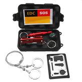 SOS Acil Survival Ekipmanları Kit EDC Spor Taktik Yürüyüş Kampçılık Aletler