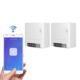 2 шт. SONOFF MiniR2 Two Way Smart Switch 10A AC100-240V Работает с Amazon Alexa Google Home Assistant Nest поддерживает режим DIY Позволяет установить Flash микропрограмм