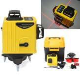 12 Line 3D 360° Infrared Laser Level Self Leveling Vertical & Horizontal Level Cross
