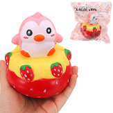 GEEN GEEN Squishy Strawberry Penguin 13 * 11CM Slow Rising With Packaging Collection Soft Speelgoed