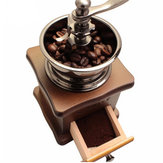 Retro Stainless Multifunction Manual Coffee Bean Grinder Wooden Nut Mill Hand Grinding Tool