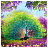 5D DIY Kreuzstich Dekorationen Diamant Stickerei Peacock Screen Malerei