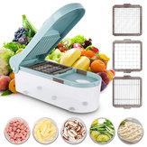Affettatrice multifunzionale regolabile con trituratore alimentare con 3 utensili da cucina Blades