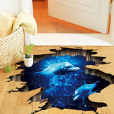 Miico Kreativ 3D Deep Sea Dolphin Removable Home Zimmer Dekorative Wand Boden Decor Aufkleber
