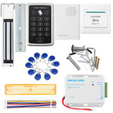 Door Access Control Touchpad Password Magnetic Lock DC 12V Power Supply Kit