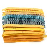 1000pcs 5% 1 / 2W 0.5W filme de metal resistor 50 valores kit assorted 0.1 ohm ~ 4.7m ohm capacitor