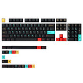 MechZone 126 Keys Metropolis Keycap Set Cherry Profile Sublimation PBT Keycaps for 60/87/104/108 Keys Mechanical Keyboards