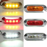 LED Lado marcador indicador da lâmpada luz da cauda universial para reboque de barco caminhão ABS 2W