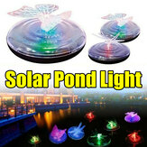 Outdoor Solar Powered LED Pool Light Butterfly Dragonfly Pattern Color Changing Floating Garden Pond Lamp