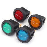 20pcs LED Dot Light 12V Motorcycle Car Boat Auto Round ON / OFF Rocker Toggle SPST Switch