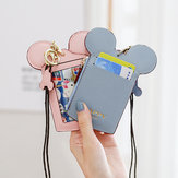 Cute Animal Shape Card Holder Monedero Monedero Cuello Wallet Lanyard Wallet para Mujer