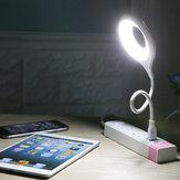 Abajur de mesa LED Abajur de mesa USB portátil Anel cuidados com os olhos Luz LED para computador, PC, laptop, leitura, livro, luzes