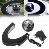 C şekli LED Dünya Haritası Manyetik Levitasyonunun Yüzen Küre Işık Ev Dekorasyon Oyuncaklar
