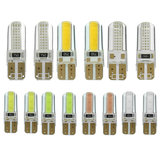 Para T10 W5W 6W 250LM 2COB Car LED Side Marker Lights Żarówka Turn Seven Colours Żarówka