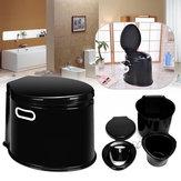 OutdoorTravelPlastic5LiterCamp Toilet Portable Camping RV Caravan Commode Com papel Gancho