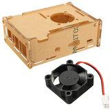 Şeffaf Saydam Kılıf Muhafaza Kutu + Rasperry Pi 2 Model / B+ için Soğutma Fanı