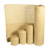5/10/15/30cm Natural Jute Hessian Burlap Roll Ribbon Rustic Weddings Belt Strap Floristry Decor