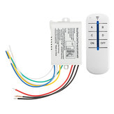 4 Way ON OFF Wireless Remote Control Switch Receiver Transmitter for LED Lamp