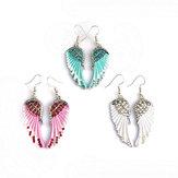 Cute Women's Earrings Angel Wings Rhinestone Alloy Earrings