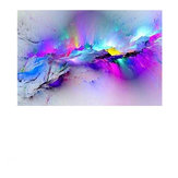 Abstract Clouds Colorful Canvas Painting Modern Wall Pictures For Living Room Home Decor Paper