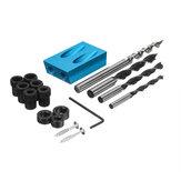 17pcs 15 Degree Pocket Hole Screw Jig Dowel Drill Set Carpenters Wood Joint Tool kit