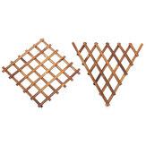 Muur opknoping bloempot plank Plant Stand raster terug houten huis tuin decoraties