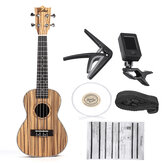 Zebra 21 23 Inch Full 4 Strings Sapele Ukulele Guitarra musical acústica