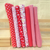 "Red Cotton 7 Assorted Pre Cut 10 ""Tkanina w kwadraty pikowana DIY Craft Sewing New"